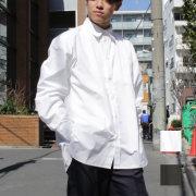 【新着】Cuirs(キュイー)メンズシャツ オリジナルタイプライタービックシャツ新作デザイン