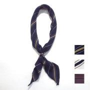【再入荷】Cuirs(キュイー)メンズスカーフ リング付きスカーフレジメンタルストライプ柄 新作デザイン