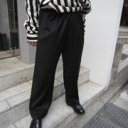 【再入荷】Cuirs(キュイー)メンズスラックス オリジナル光沢ワイドパンツ 新作デザイン