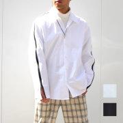 【新着】Cuirs(キュイー)メンズシャツ オリジナルスリーブジップオープンシャツ新作デザイン