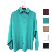 【再入荷】Cuirs(キュイー)メンズシャツ 【新色ワイン入荷】オリジナルドルマンスリーブさらさら無地シャツ新作デザイン