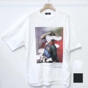 【新着】Cuirs(キュイー)メンズTシャツ オリジナルパロディープリントTシャツ(ナポレオン)新作デザイン