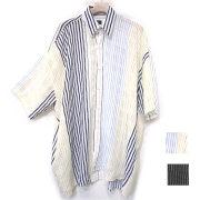 【再入荷】Cuirs(キュイー)メンズシャツ オリジナルマルチチェックビックシャツアウター新作デザイン