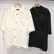 【再入荷】Cuirs(キュイー)メンズシャツ レースシャツジャケット 新作デザイン