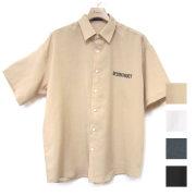 【再入荷】Cuirs(キュイー)メンズシャツ オリジナルバックプリントさらさらシャツ新作デザイン