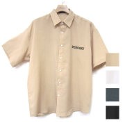 【セール】【再入荷】Cuirs(キュイー)メンズシャツ オリジナルバックプリントさらさらシャツ新作デザイン