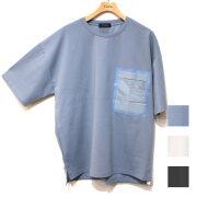 【新着】Cuirs(キュイー)メンズTシャツ オリジナルポケット切り替えTシャツ新作デザイン
