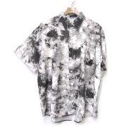 【セール】Cuirs(キュイー)メンズシャツ オリジナルムラ染め風プリントシャツ新作デザイン