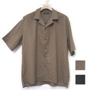 【セール】Cuirs(キュイー)メンズシャツ オリジナル綿麻セットアップオープンシャツ新作デザイン