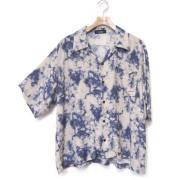 【セール】Cuirs(キュイー)メンズシャツ オリジナルプリントさらさらオープンシャツ新作デザイン