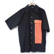 【新着】Cuirs(キュイー)メンズシャツ オリジナルオレンジポケットナイロンシャツ新作デザイン