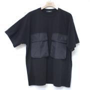 【セール】Cuirs(キュイー)メンズTシャツ オリジナルダブルビックポケットオーバーサイズTシャツ新作デザイン