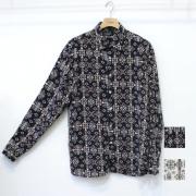【新着】Cuirs(キュイー)メンズシャツ オリジナルさらさらネイティブ柄シャツ新作デザイン