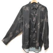 【新着】Cuirs(キュイー)メンズシャツ オリジナル花柄ビックさらさらシャツ作デザイン
