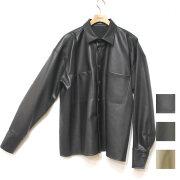【再入荷】Cuirs(キュイー)メンズジャケット オリジナルダブルポケットレザーシャツジャケット新作デザイン