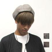 【新着】Cuirs(キュイー)メンズベレー帽 グレンテック柄ベレー帽新作デザイン