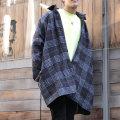 【新着】Cuirs(キュイー)メンズシャツ オリジナルグレンチェックウールオーバーシャツアウター新作デザイン
