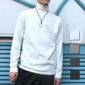 Cuirs(キュイー)メンズカットソーオリジナルハイネックロングTシャツ新作デザイン