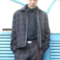 【セール】Cuirs(キュイー)メンズジャケット オリジナルセットアップウールウインドウペンショートジャケット新作デザイン