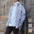 Cuirs(キュイー)メンズシャツ オリジナルロンドンストライプシャツ新作デザイン