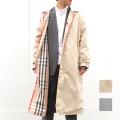 【セール】Cuirs(キュイー)メンズコート オリジナルリバーシブルAラインロングステンカラーコート新作デザイン