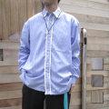 【新着】Cuirs(キュイー)メンズシャツ オリジナルストライプ柄オーバーサイズフリンジシャツ新作デザイン
