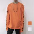 【セール】【新着】Cuirs(キュイー)メンズTシャツ 袖長アームプリント無地カラーロングTシャツ 新作デザイン
