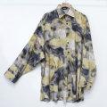 【新着】Cuirs(キュイー)メンズシャツ オリジナルカットオフプリントオーバーサイズシャツ新作デザイン