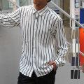 【雑誌掲載】【再入荷】【新着】Cuirs(キュイー)メンズシャツ オリジナルストライプ柄シャツ新作デザイン