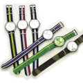【Streetjack1月号SamuraiELO11月号9月号雑誌掲載】【新着】Cuirs(キュイー)メンズ腕時計 ノーブランドナイロンカラーベルトウオッチ 新作デザイン