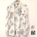 【セール】Cuirs(キュイー)メンズシャツ オリジナル総柄フラワープリントさらさらシャツ新作デザイン