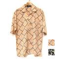 【期間限定】【新着】Cuirs(キュイー)メンズシャツ オリジナル幾何学オープンシャツ新作デザイン