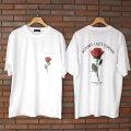 【期間限定】【再入荷】【新着】Cuirs(キュイー)メンズTシャツ オリジナルローズプリントTシャツ新作デザイン