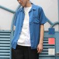 【セール】【FINEBOYS8月号SamuraiELO8月号雑誌掲載】【新着】Cuirs(キュイー)メンズシャツ 開衿オープン半袖シャツ新作デザイン