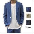 【セール】Cuirs(キュイー)メンズジャケット オリジナル綿麻混合セットアップ3ピーステーラードジャケット新作デザイン