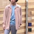 【Streetjack10月号FINEBOYS8月号SamuraiELO8月号雑誌掲載】【再入荷】【新着】Cuirs(キュイー)メンズシャツ オリジナルサテンオープンシャツ新作デザイン