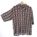 【新着】Cuirs(キュイー)メンズシャツ 総柄プリント半袖さらさらシャツ 新作デザイン