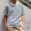 【セール】【新着】Cuirs(キュイー)メンズTシャツ オリジナル切り替えボーダーTシャツ新作デザイン