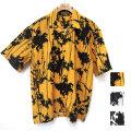 【新着】Cuirs(キュイー)メンズシャツ オリジナルペイントプリントオープンシャツ新作デザイン