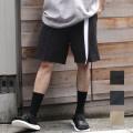 【セール】Cuirs(キュイー)メンズパンツ オリジナル綿麻セットアップハーフパンツ新作デザイン
