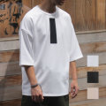 【】Cuirs(キュイー)メンズTシャツ オリジナルレフレクタープリント5分袖Tシャツ 新作デザイン