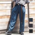 【新着】Cuirs(キュイー)メンズスラックス オリジナルセットアップ無地ワイドパンツ新作デザイン