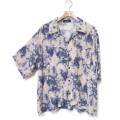 Cuirs(キュイー)メンズシャツ オリジナルプリントさらさらオープンシャツ新作デザイン