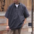 【新着】Cuirs(キュイー)メンズシャツ オリジナルピーチスキンZIPUPハイネックシャツ新作デザイン