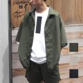【新着】Cuirs(キュイー)メンズシャツ オリジナルTRセットアップBIGオープンシャツ新作デザイン