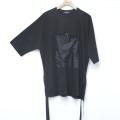 【新着】Cuirs(キュイー)メンズTシャツ オリジナルフロントポケットドローコードビックTシャツ 新作デザイン