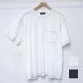 【新着】Cuirs(キュイー)メンズTシャツ オリジナルクルーネックステッチポケット付きTシャツ新作デザイン