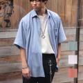 【新着】Cuirs(キュイー)メンズシャツ オリジナルサラサラジャージレギュラーシャツ新作デザイン