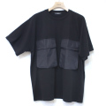 Cuirs(キュイー)メンズTシャツ オリジナルダブルビックポケットオーバーサイズTシャツ新作デザイン