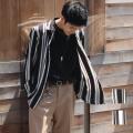 【新着】Cuirs(キュイー)メンズシャツ オリジナルマルチストライプさらさらシャツ新作デザイン